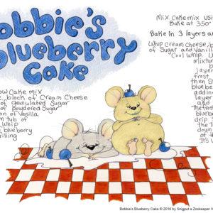 Snigput Vittles – Bobbie's Blueberry Cake S1W27
