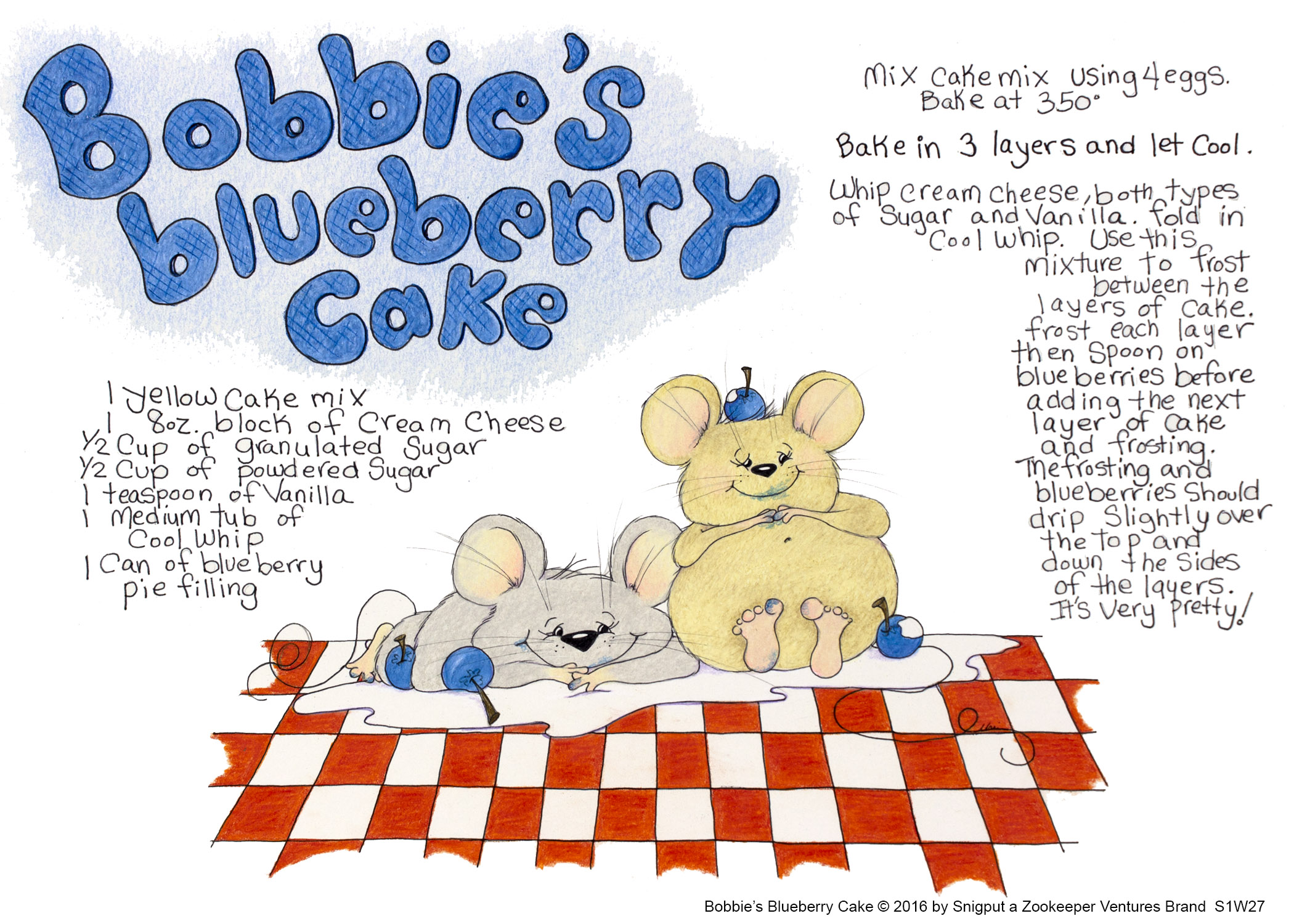 Bobbies Blueberry Cake